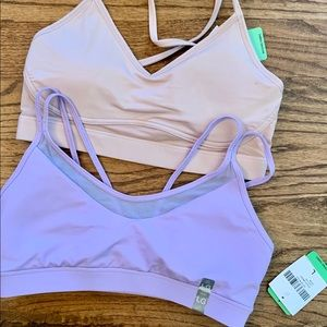 2 Athletic bras wicking fabric NWT